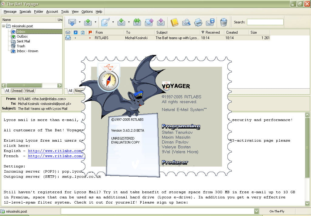 The bat почтовая программа скачать бесплатно